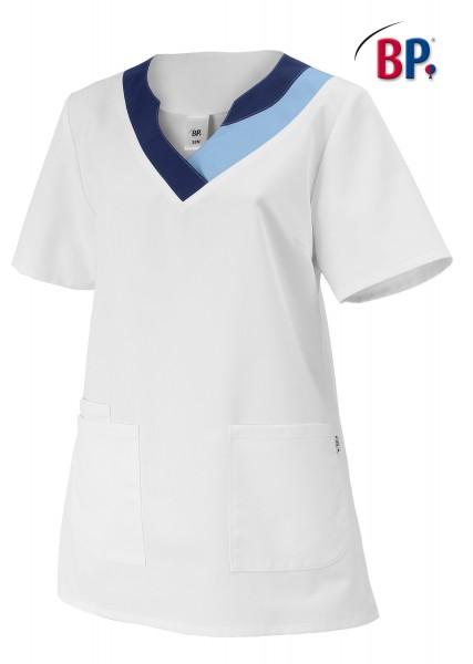 Schlupfkasack BP 1664 für Damen, Comfortec-Mischgewebe, Farbe weiß/hellblau