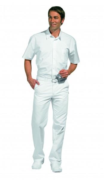 12/2120 Leiber, Klassische Herrenhose, komfortabler Dehnbund, Farbe weiß