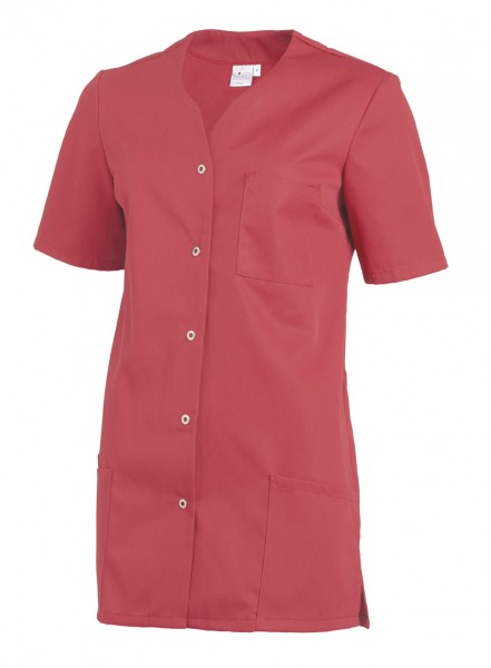 Leiber 08/2549 Damenkasack mit Druckknopfleiste, Farbe dunkelrosa