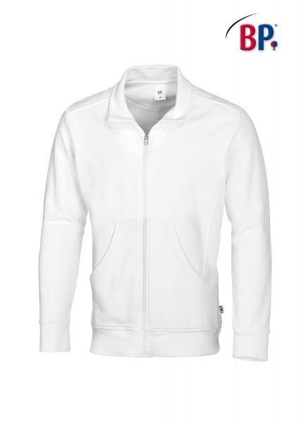 Sweatjacke BP 1627 für Sie & Ihn in Farbe weiß aus verstärkter Baumwolle