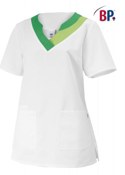 Schlupfkasack BP 1664 für Damen, Comfortec-Mischgewebe, Farbe weiß/hellgrün