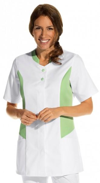 Leiber 08/2507 Hosenkasack mit Knopfleiste für Damen in weiss/hellgrün