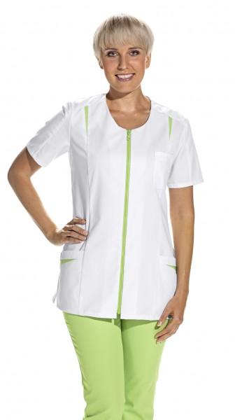 08/2533 Leiber Hosenkasack/ Damenkasack mit Reißverschluss aus Mischgewebe in Farbe weiß-hellgrün