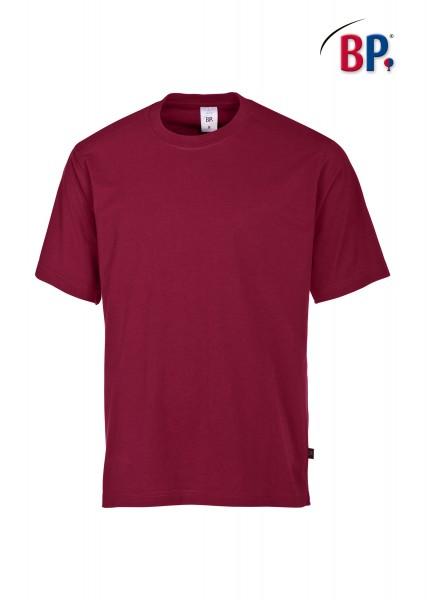 T-Shirt BP 1621 171 82 in bordeauxrot aus strapazierfähigem Mischgewebe