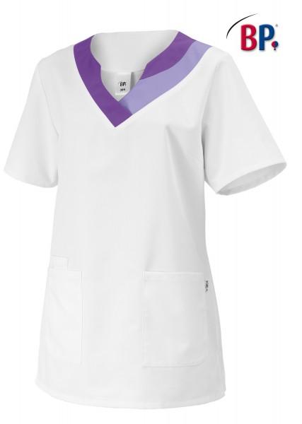 Schlupfkasack BP 1664 für Damen, Comfortec-Mischgewebe, Farbe weiß/lila