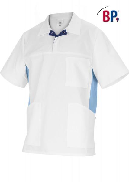 BP 1666 Schlupfkasack für Sie und Ihn aus strapazierfähigem Baumwollmischgewebe in weiß/hellblau