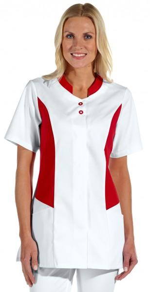 Leiber 08/2507 Hosenkasack mit Knopfleiste für Damen in weiss/rot