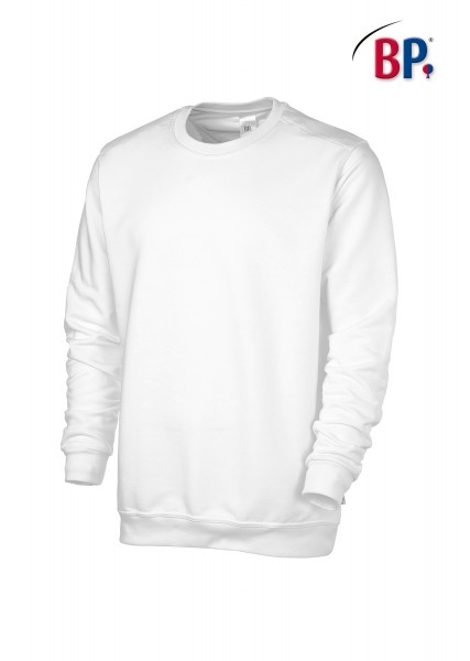 BP Sweatshirt 1623 193 21 unisex in weiß aus verstärkter Baumwolle