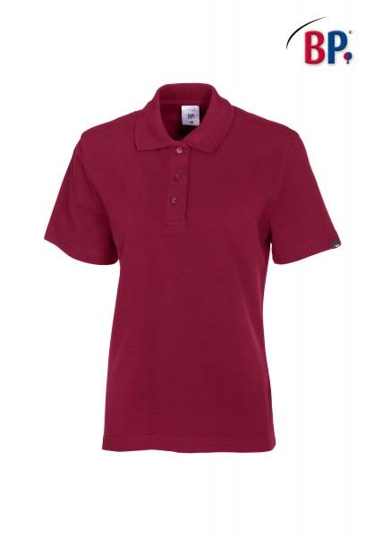 BP Poloshirt 1648 181 82 für Damen in bordeauxrot aus strapazierfähigem Mischgewebe