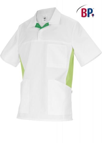 BP 1666 Schlupfkasack für Sie und Ihn aus strapazierfähigem Baumwollmischgewebe in weiß/hellgrün