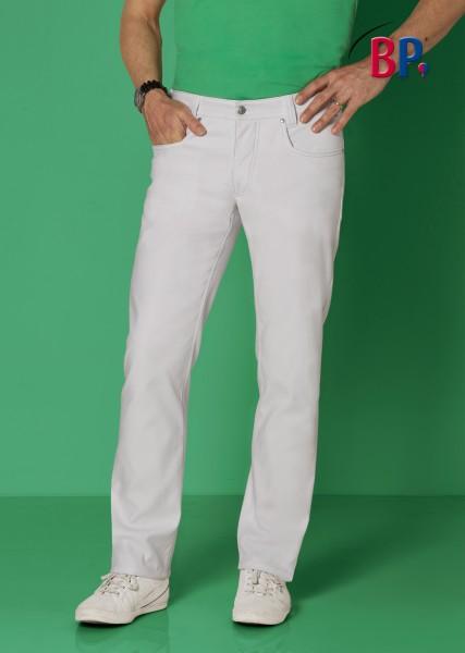 Moderne Arzthose BP 1733 687 für Herren in weiß aus Mischgewebe mit Stretchkomfort