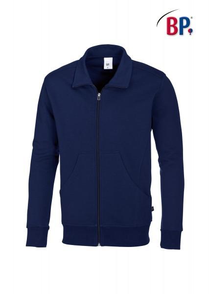 Sweatjacke BP 1627 für Sie & Ihn in Farbe dunkelblau aus verstärkter Baumwolle