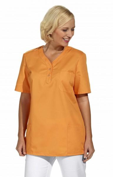 Leiber 08/1254 Damenschlupfjacke aus Mischgewebe, unifarben, Farbe orange (sun)