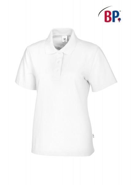 BP Poloshirt 1648 181 21 für Damen in weiß aus strapazierfähigem Mischgewebe