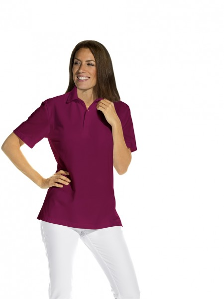 Poloshirt 08/2515 von Leiber, Unisex, Farbe bordeauxrot