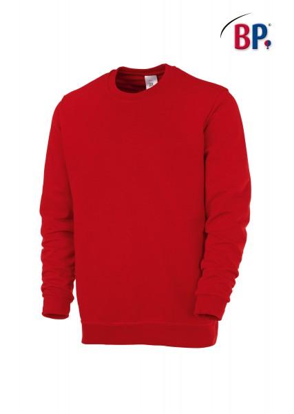 BP Sweatshirt 1623 193 32 unisex in rot aus verstärkter Baumwolle