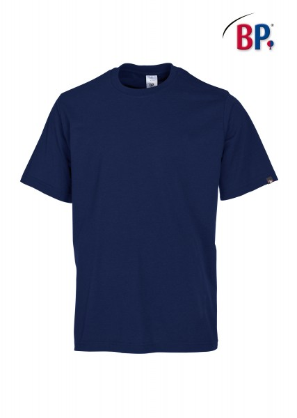 T-Shirt BP 1621 171 110 unisex in nachtblau aus strapazierfähigem Mischgewebe