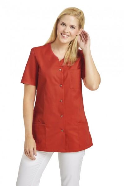 Leiber 08/2549 Damenkasack mit Druckknopfleiste, Farbe lobster red