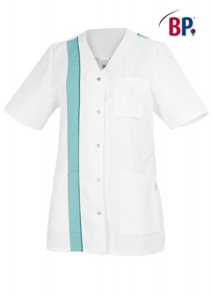 BP Kasack 1616 400 71 für Damen in weiß/mint mit Knopfleiste