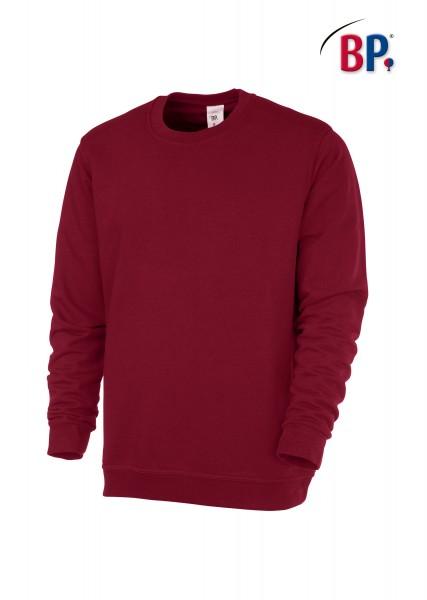 BP Sweatshirt 1623 193 unisex in bordeauxrot aus verstärkter Baumwolle